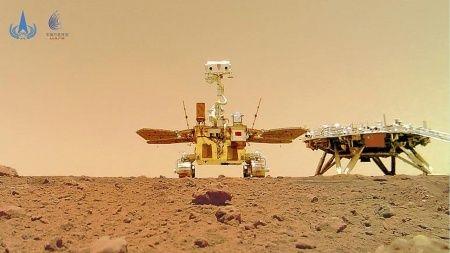 Çin'in uzay aracından yeni Mars fotoğrafları geldi