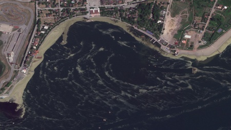 Marmara'daki müsilaj felaketi uzaydan görüntülendi