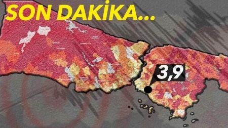 Son dakika! İstanbul'da deprem korkuttu   Son depremler