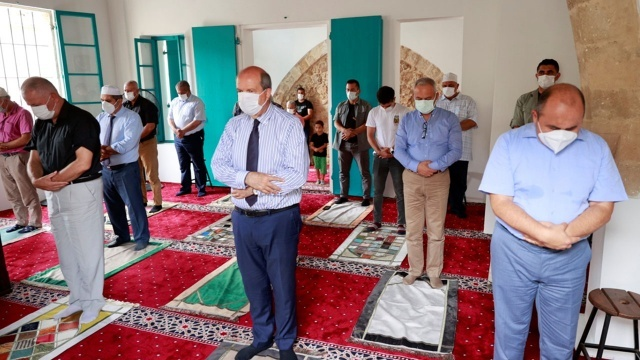 47 yıl sonra bir ilk! Kapalı Maraş'ta cuma namazı kılındı