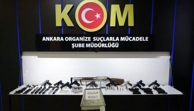 Ankara'da yasa dışı silah ticaretine büyük darbe