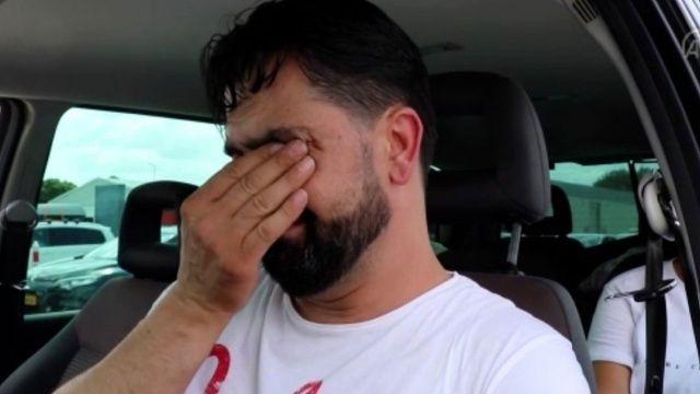 Gurbetçinin vatan hasreti gözyaşı döktürdü