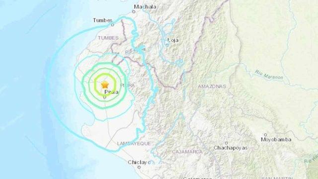 Peru-Ekvador sınırında 6,1 büyüklüğünde deprem