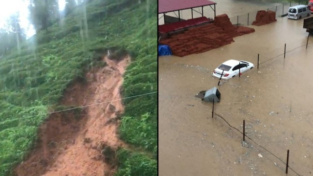 Son dakika: Rize ve Giresun'da sel felaketi: Heyelan evi yuttu