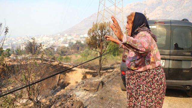 Yangında evi küle döndü: Hamide Teyze yürekleri dağladı