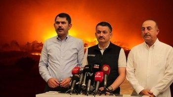 3 bakandan Manavgat'taki yangının çıkış sebebi hakkında ortak açıklama
