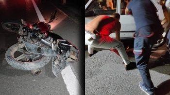 Art arda 3 araç çarptı: Motosiklet sürücüsünün feci ölümü