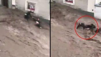 Avusturya'daki sel felaketinden Türk çifti komşuları kurtardı