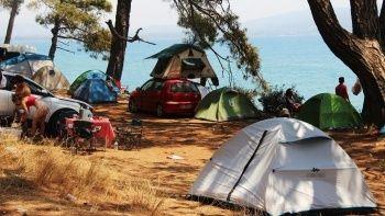 Bayram tatilcileri Muğla'yı 'çadır kent'e çevirdi