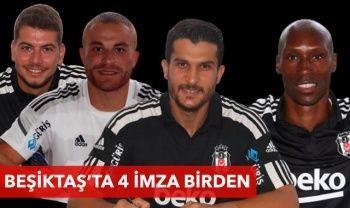 Beşiktaş'ta 4 imza birden! Atiba Hutchinson, Gökhan Töre, Utku Yuvakuran, Necip Uysal