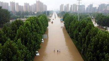 Çin'deki sel felaketinde bilanço ağırlaştı 5 kişi hala kayıp