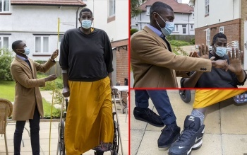 Dünyanın en uzun ikinci adamı hastalıklarla mücadele ediyor