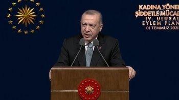 Cumhurbaşkanı Erdoğan: Kadına yönelik şiddetle mücadelede her adımı destekledim