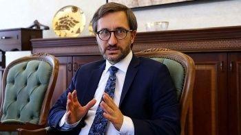 Fahrettin Altun'dan medya kuruluşlarına para desteğine tepki