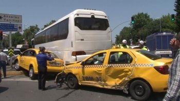 Fatih'te zincirleme kaza: 3 yaralı