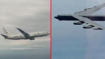 Havada gergin dakikalar: Rus ve ABD savaş uçakları karşı karşıya geldi