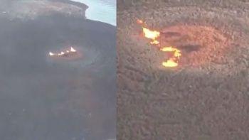 Hazar Denizi'ndeki patlamanın ardından Çamur Volkanı'nın son hali