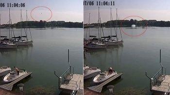 Helikopterin göle düşme anı ortaya çıktı