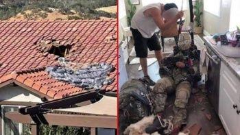 İngiliz askerin paraşütü açılmayınca evin mutfağına düştü