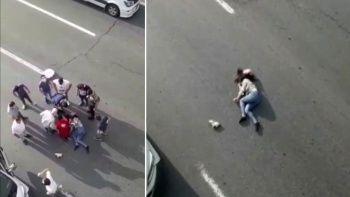 İstanbul'da korkunç olay: Üst geçide çıkan kadın yola atladı