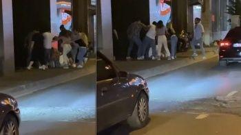 İstanbul'un göbeğinde kadına şiddet: Bir yumrukla yere serdi