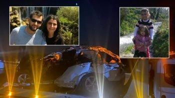 Kahreden kaza! Bir aile yok oldu: Öğretmen çift ve çocukları toprağa verildi