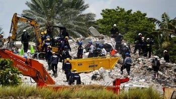 Miami'de 97 kişiye mezar oldu: Çöken binada arama çalışmaları bitti