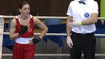 Milli boksör Buse Naz Çakıroğlu çeyrek finalde
