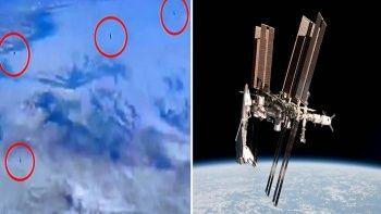 NASA canlı yayınında UFO paniği 10 tane tanımlanamayan cisim