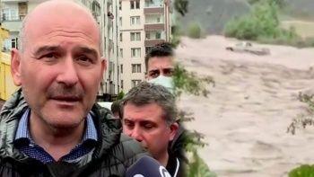 Rize ve Artvin felaketi yaşıyor: Sel vurdu