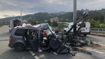 Rize'ye tatile giden gurbetçiler kaza yaptı