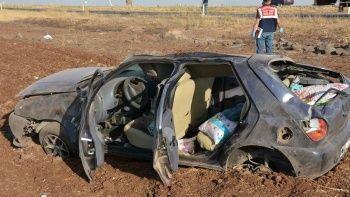 Şanlıurfa'da kaza: Otomobil şarampole devrildi