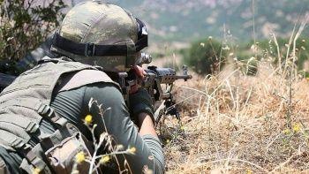 Son dakika: Barış Pınarı Bölgesinde 5 terörist öldürüldü
