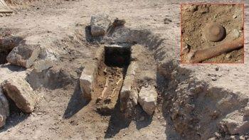Tarihçileri heyecanlandıran keşif! Bin yıllık iskelet bulundu