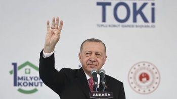 TOKİ'nin 1 milyonuncu konutunu Cumhurbaşkanı Erdoğan teslim etti