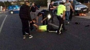 Trafik polisi yol güvenliğini sağlarken şehit oldu