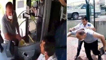 Yeni görüntüler: Otobüs şoförü tartıştığı yolcuyu darp etti