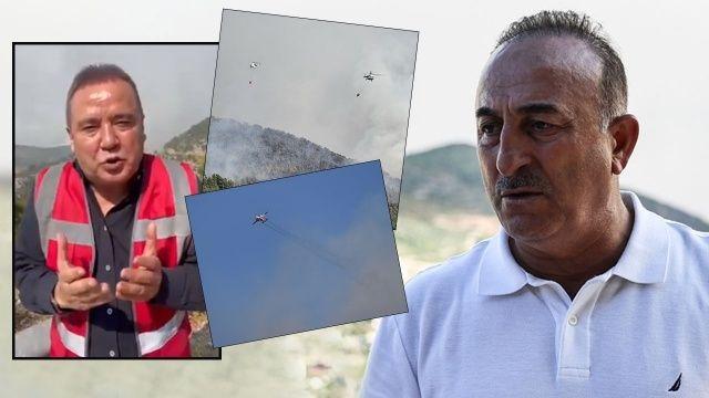 Bakan Çavuşoğlu'ndan Muhittin Böcek'e uçak tepkisi