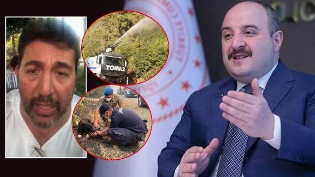 Bakan Varank'tan oyuncu Emre Kınay'a görüntülü cevap