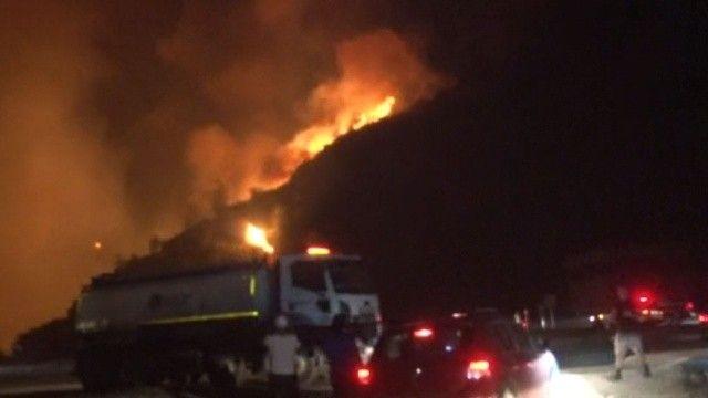 İHA ekibi termik santral yangınını saniye saniye aktardı