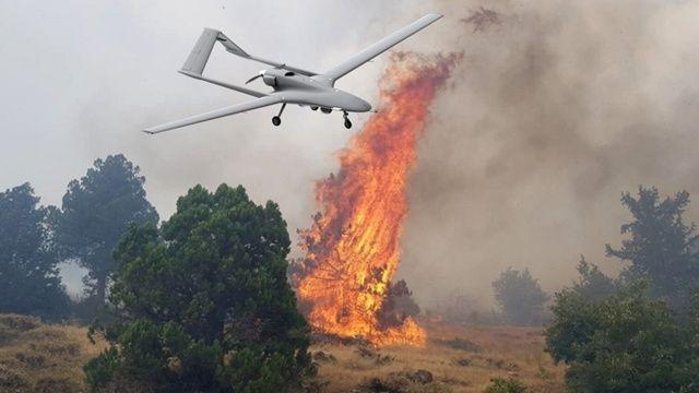 İHA'larla alevlere etkili müdahale: Nokta atışı