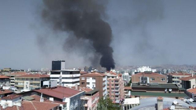 Son dakika! Ankara'da Anıtkabir yakınındaki hastane inşaatında yangını: Çok sayıda itfaiye ekibi gönderildi