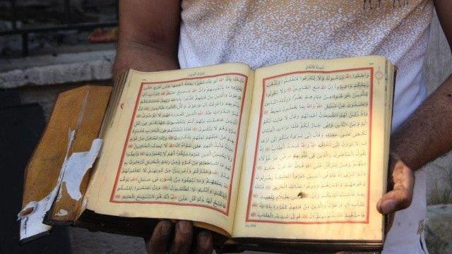 Yangında her yer yandı: Bir tek Kur'an-ı Kerimler zarar görmedi