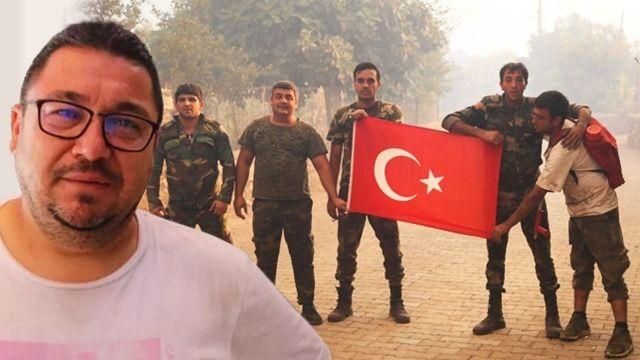 70 evi yangından kurtarıp Türk bayraklarını toplayan Azerbaycanlı itfaiyeler hayran bıraktı
