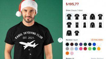 İnsanlık dışı: ABD'de uçaktan düşen Afganları tişörtlere basıp dalga geçtiler
