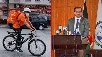 Afganistan'ın Eski İletişim Bakanı kuryelik yapıyor