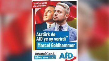Almanya'daki seçimlerde ırkçı partiden tepki çeken Atatürk afişi