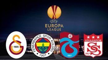 Avrupa Ligi ve Konferans Ligi'nde rakipler belli oluyor! Galatasaray, Fenerbahçe, Trabzonspor, Sivasspor...