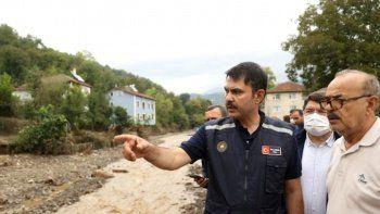 Bakan Kurum: Selden zarar gören üç ile bin 114 konut yapılacak