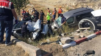 Başkent'te zincirleme kaza: 1 ölü, 6 yaralı
